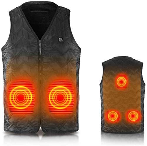 QSs-Ⓡ USB Electric Vest - intelligente Heizweste für Männer mit konstanter Temperatur, geeignet für die Ski-Motorrad-Jagd, Camping-Angeln