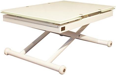 RR Design - Mesa de cristal para salón extensible y regulable en ...