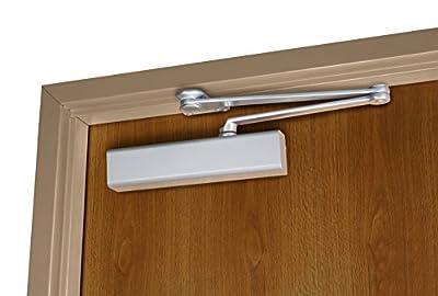 Norton Door Controls PR8501 x 689 8500 Series Door Closer, Cast Aluminum Body, Adjustable Size 1-6, Parallel Rigid Arm with Full Cover, Aluminum Finish