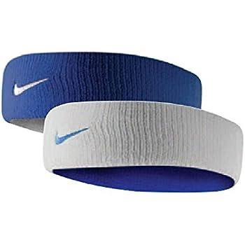 Nike Dri-Fit Home & Away Headband (One Size Fits Most, Varsity Royal/White)