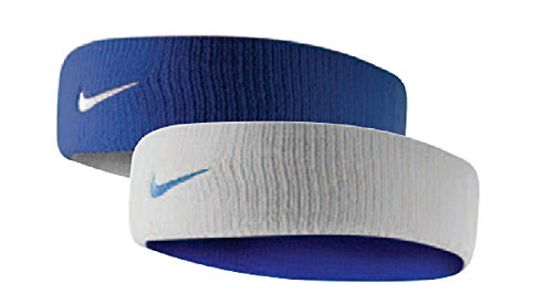 Nike Dri-Fit Home & Away Headband (One Size Fits Most, Varsity Royal/White)