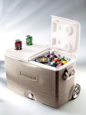 Split Lid - Rubbermaid FG2A9200PMTL 50 Quart Durachill™ Cooler Assorted Colors