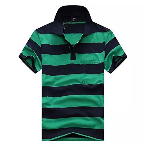 (エフバイフォー) F×4 メンズ ポロシャツ 半袖 Tシャツ ボーダー 柄 ゴルフ ポロ poloシャツ ゴルフシャツ スポーツ カジュアル 縞 トップス 大きい サイズ FMT034