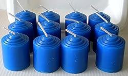 12 Pack Unscented Royal Blue 10 Hour Votive Candles