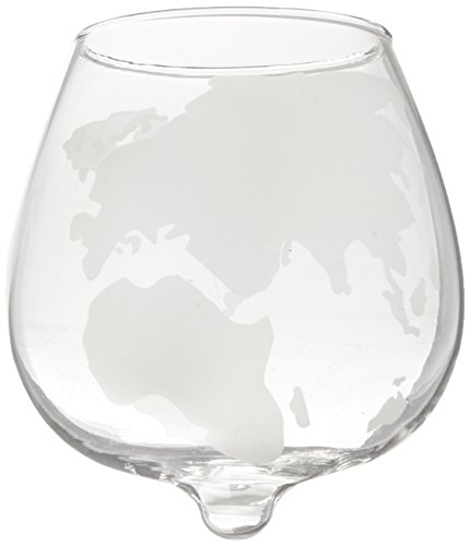 Beautiful Etched Glass - The Wine Savant 2 Piece Etched Spinning Globe Glasses, Beautiful Scotch and Whiskey Glasses, Classic Look for Any Bar