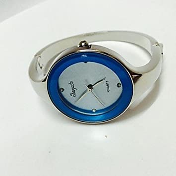 Fashion Watches Relojes Hermosos, Mujer Reloj de Moda Chino Cuarzo Metal Banda Destello Brazalete Plata (Color : Azul): Amazon.es: Deportes y aire libre