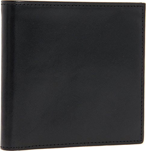 Bosca Black Old Leather ID Hipster Credit Card Wallet