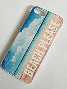 Diycase CLEAR cell phone case cover for iPhone 6 plus 6 plus BEACH PLEASE blgSZK6 plus3pPQ