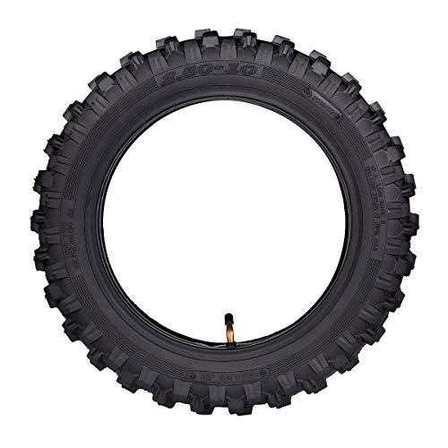 2.50x10'' Knobby Tyre 2.5-10 Front + Rear Tire w/ TR87 Inner Tube for Mini Dirt Bike XR50 CRF50 PW50 SDG107 KTM 50SX Morini Razor SX500 by Wingsmoto (Image #5)