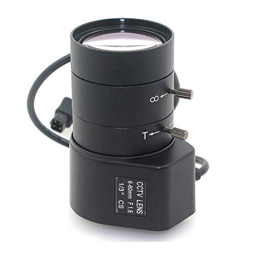 Vanxse 6-60mm 1/3 Auto-iris Varifocal Lens Cs-Mount Dc Drive for Box CCTV Security Camera 1/3 Inch F1.6