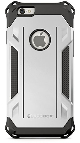 Price comparison product image BUDDIBOX iPhone 6s Case,  [Corner Series] – Heavy Duty Protection From Falls – Also Compatible With Apple iPhone 6 – [Silver]