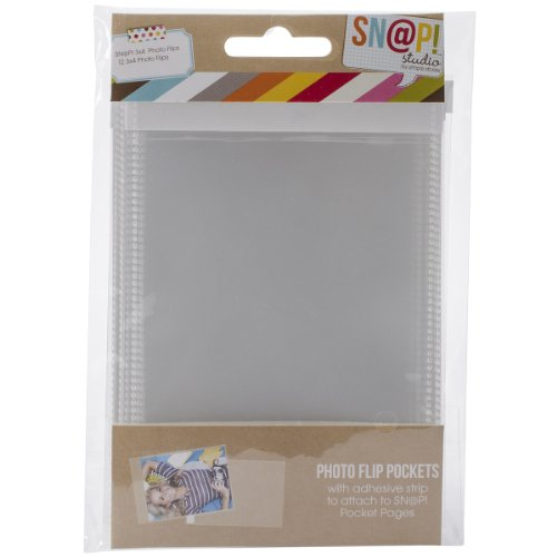 Price comparison product image Simple Stories Snatp! Photo Flips for 6 by 8-Inch Binders 3 by 4-Inch, 12-Pack