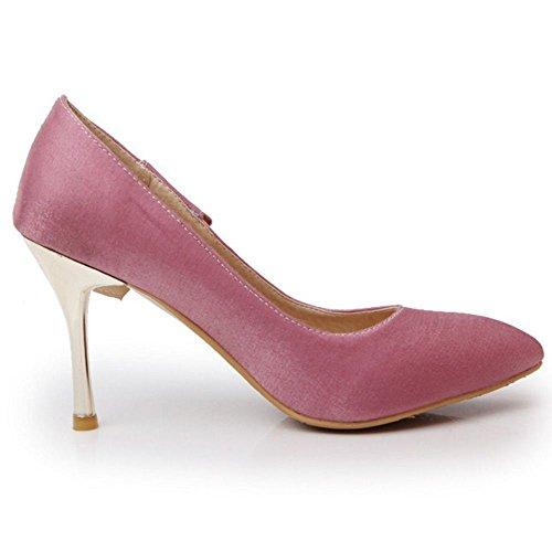 Damen Pink dünnem mit TAOFFEN Pumps Absatz OqwUZ