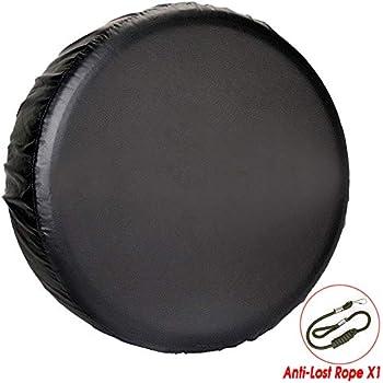 Comily Plus Universal PVC Spare Tire Wheel Cover Fit 27.6-28.8 in Diameter-Plain Black