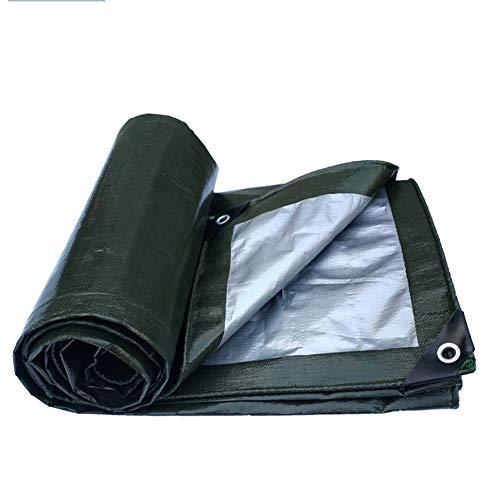 曲げるいつその間CHAOXIANG ターポリン サンシェード 厚い アウトドア 防雨 リノリウム オックスフォード布 PE 厚さ0.35mm、 20サイズ、 カスタマイズ可能な (色 : Army Green Silver, サイズ さいず : 2.8x3.8m)