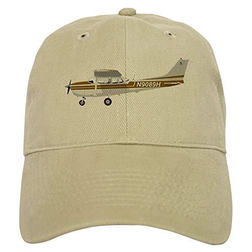 Cessna 172 Skyhawk Brown - Baseball Cap with Adjustable Closure, Unique Printed Baseball Hat