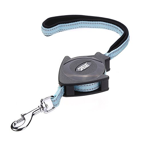 - Retractable Dog Leash Durable Reflective Nylon Dog Lead Extending Puppy Walking Leads Small Medium Dogs up to 40 lbs - Length 4.6ft