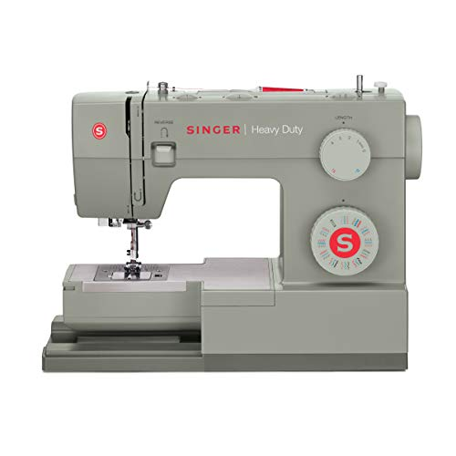 Singer  Heavy Duty 4452 Sewing Machine With Accessories, 32 Built-In Stitches, 60% Stronger Motor, Stainless Steel Bedplate, 48% Faster Stitching Speed & Automatic Needle Threader