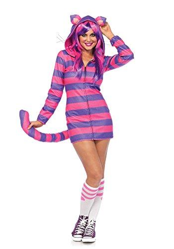 Leg Avenue Women's Cheshire Cat Cozy, Pink/Purple, Small