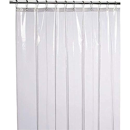LiBa Mildew Resistant Anti-Bacterial PEVA 8G Shower Curtain Liner, 72x72 Clear - Non Toxic, Eco-Friendly, No Chemical Odor, Rust Proof - Rod Stand Magnetic