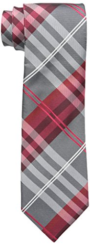 Geoffrey Beene Men's Petros Plaid Ii Tie, red, X-Long