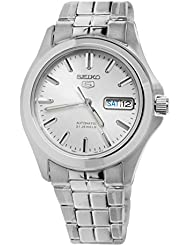 Seiko Mens SNKK87 Two Tone Stainless Steel Analog with White Dial Watch