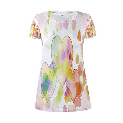 TecBillion Abstract Home Decor A Flamboyant Round Necked Dress,for Women,L