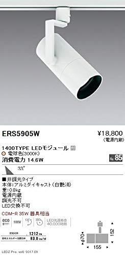 ENDO LEDスポットライト 配線ダクトレール用 CDM-R35W相当 電球色3000K 広角 ERS5905W (ランプ付)   B07HQ6JHXR