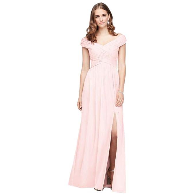 d0f9f3f66d David's Bridal Crisscross Off-The-Shoulder Mesh Bridesmaid Dress ...