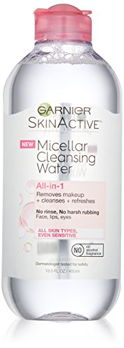 Garnier SkinActive Micellar Cleansing Water All-in-1 Cleanser & Makeup Remover, 13.5 Fluid Ounce