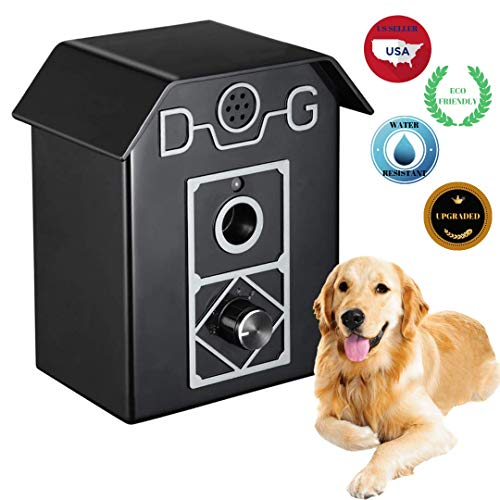 POSH PETS Bark Control Device Indoor/Outdoor Anti Barking Ultrasonic Stop Dog Barks Safe Harmless for Humans and Dogs Stylish Barking Deterrent for 1 or Multiple Dogs All Breeds Sizes