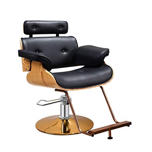 HSRG Professional Barber Chair, 360 Swivel Vintage Salon Spa Chair for Salon Equipment Tattoo Chair,Black