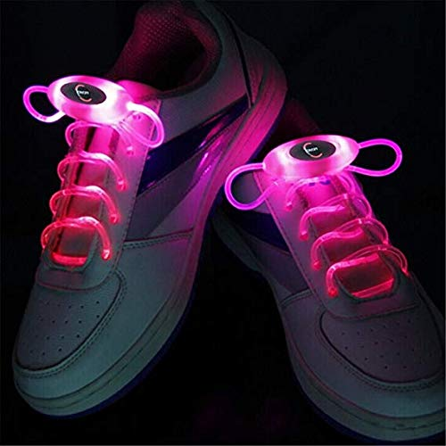 Ruanyi RGB 80cm Glow Shoelaces LED Sport Shoes Laces Glow Stick Flashing Neon Luminous Laces Pink (Color : Pink) by Ruanyi