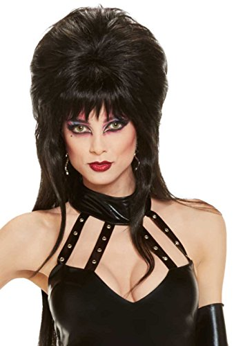 [Elvira Mistress Of The Dark Long Wig, Black, One Size] (Halloween Costumes Elvira)