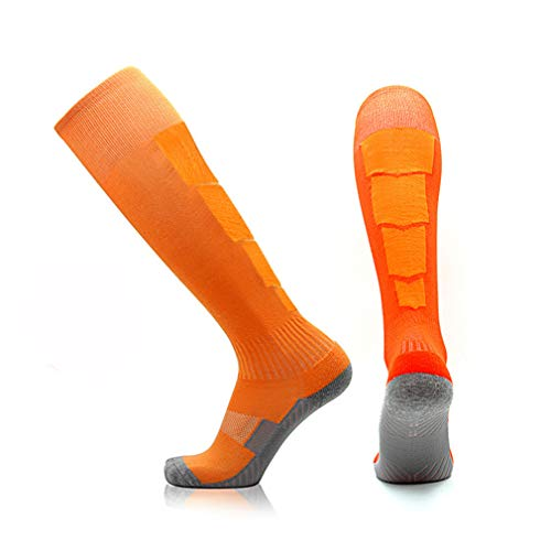 Adult Sweat Bottom Club Long For Tube Socks slip Football Non Men's Soccer Football Sports Breathable Basketball rugby yellos Knee Orange Towel School absorbent Chaussettes high Hockey gZZp60