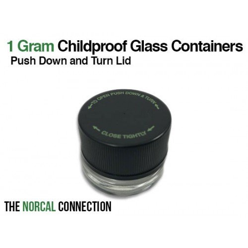 The Norcal Connection 5ml Child Resistant Shoulderless Container, 504 Count