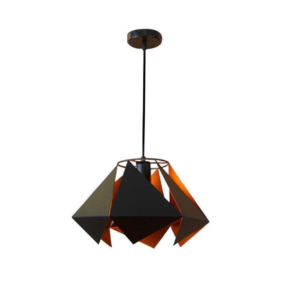 Kronleuchter, Deckenlampenschirm-Ringlicht Europäische Retro Industrie Art Kreative Diamant Geometry Schmiedeeisen Restaurant Cafe Bar Table Shaped Kronleuchter