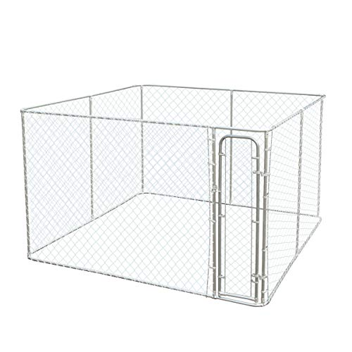 JAXPETY Dog House Kennel Large Cage Pen Outdoor Pet Durable Metal Fences 10 x 10 x 6 F