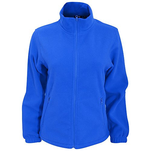 2786 Full royal 000 Cappotto zip Women's Fleece Blue Donna vrpq5vwO4