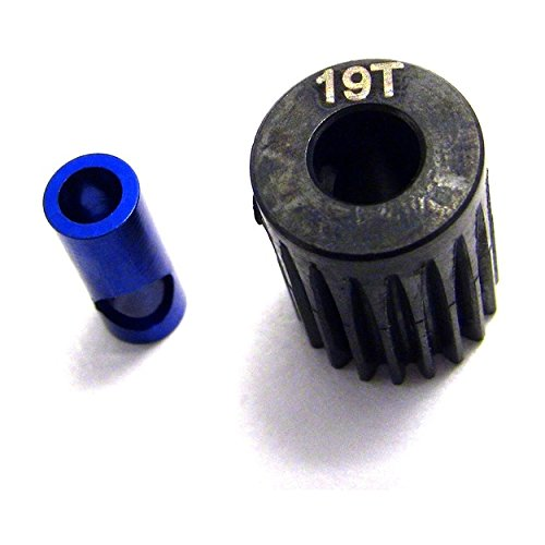 Hot Racing NSG819 19t Steel 48p Pinion Gear 5mm or -