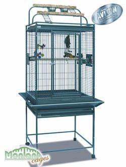 Montana Finca II Play Top loro jaula de pájaros, diseño antiguo ...