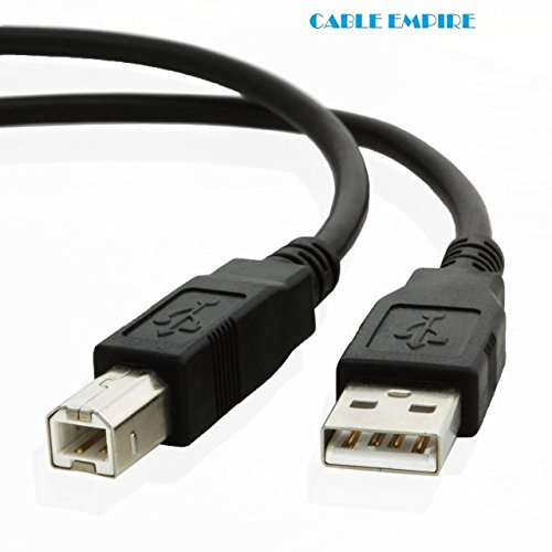 USB Cable for Dell 5330dn Workgroup Mono Laser Printer (6 Feet) by Cable Empire