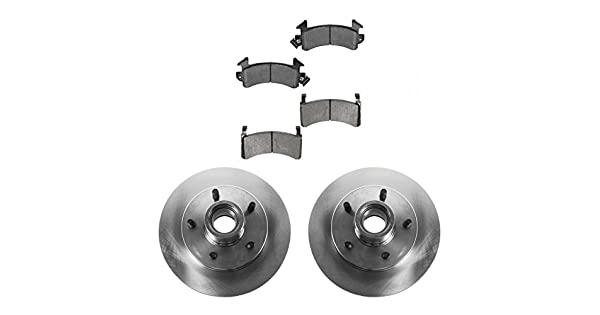 Front Semi Metallic Brake Pads /& Disc Rotors Fits Chevrolet GMC Isuzu Oldsmobile