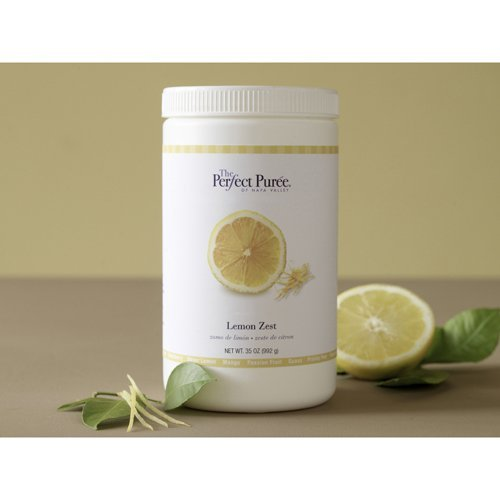 Puree, Lemon Zest, Perfect Puree, Sweetened With 50% Sugar - 6 x 35 Oz Case (frozen) by Perfect Puree (Image #1)