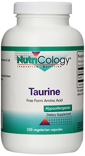 Nutricology Taurine, 1000 Mg, Vegicaps, 250-Count