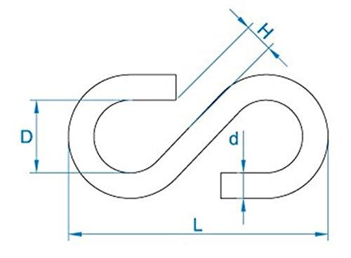 100 /Eisen verzinkt gebuvolco 105.00030.1020/3/x 25/mm Zahl 30/S-Haken/