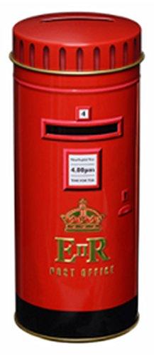 Tea Tin Box (English Tea, London Red Post Box - Traditional English Tea in Red Post Box Tin Bank)