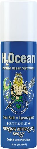 H2Ocean Piercing Aftercare Spray, 1.5 Fluid Ounce (Piercing Aftercare)