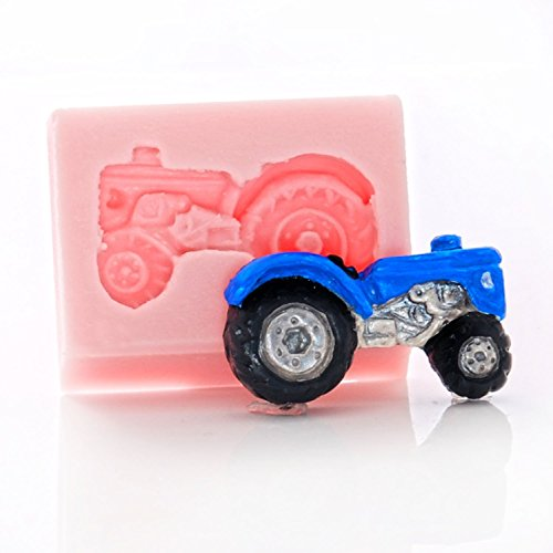 Small Farm Tractor Silicone Mold Food Safe Fondant