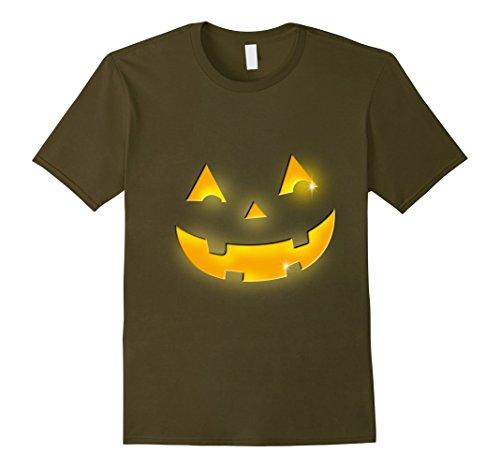 Mens Giant Jack O' Lantern Evil Smiley Pumpkin Halloween T-shirt 2XL (Smiley Costume Horror)
